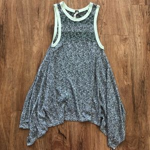 We The Free Gray Marbled Tank Top Tunic Small S